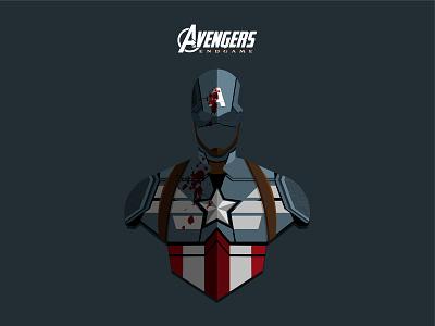 Captain America infinity war endgame steve rogers vector superhero marvel illustration hero comic character captain america avengers avatar america