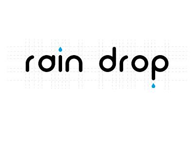 Rain Drop waterdrops drops water rain typography logo icon design vector illustration adobe illustrator