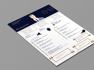Resume cv template cv design cv resume design vector illustration adobe illustrator
