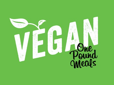 Vegan One Pound Meals identity typogaphy graphic design