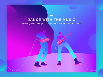 Dance With The music sai illustration