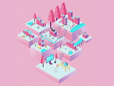 Online  community illustration
