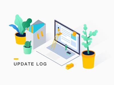Update log illustration