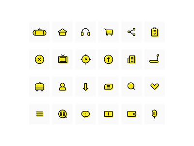 Linear icon practice icon