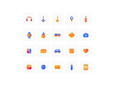 some colorful icons icon
