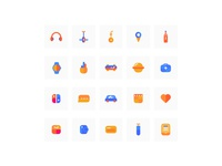 some colorful icons