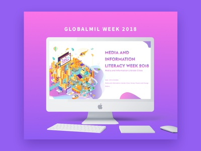 GLOBALMIL WEEK 2018 interaction design page