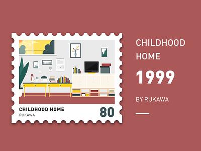 childhood home illustration