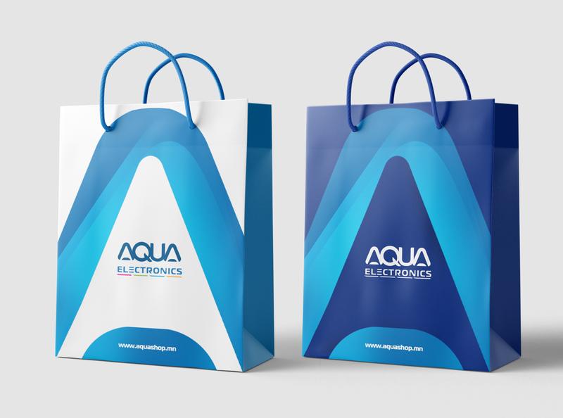 Aqua Brand identity blue aqua motif bag design bag brandbook identity branding logo design