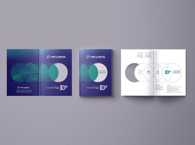Net capital decade catalog visual round cover book identity decade catalog magazine brandbook branding design