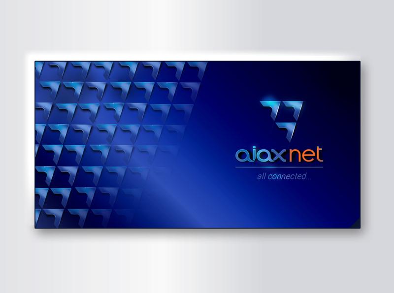 Speed of aiax internet internet motif poster brandbook identity branding logo design