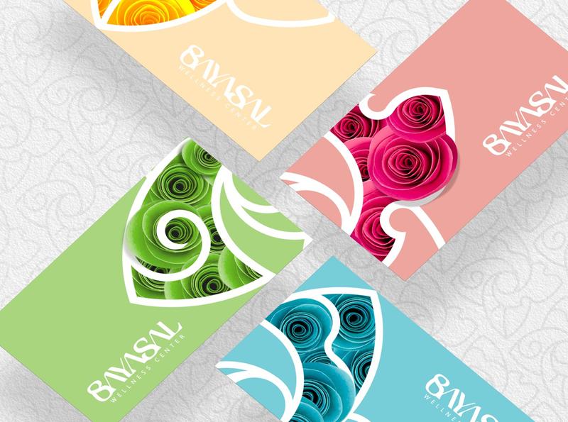 Colorful card wellness designs colorful card brandbook identity branding logo design