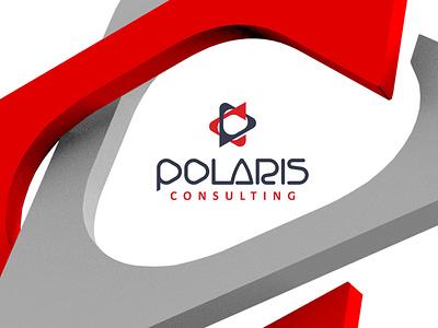 Polaris polaris red consulting logo design logodesign logotype motion animation poster brandbook identity branding logo design