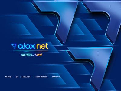 aiax internet network net connected internet blue speed effect poster brandbook identity branding logo design