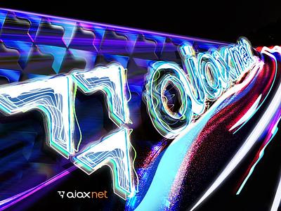 Network speed light internet net speed photoshop effect blue poster brandbook identity branding logo design