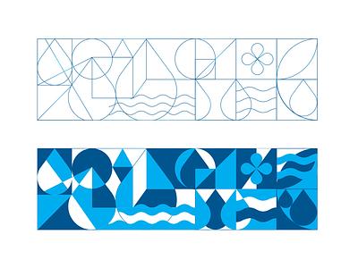 Water illustration branding logo design brandbook identity illustration digital motif hologram minimal vector water illustration design illustration art illustration