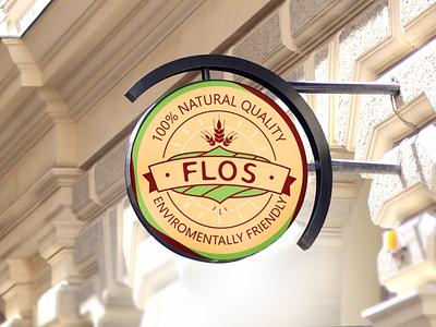 Flos logo logodesign sign brandbook identity branding logo design