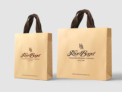 Khanbogd Cashmere brand luxury cashmere fashion brand motif bag design baggage bag brandbook identity branding logo design