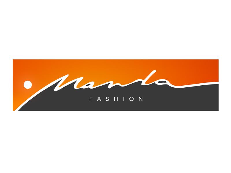 Manda sunrise sun mountain manda logo label fashion