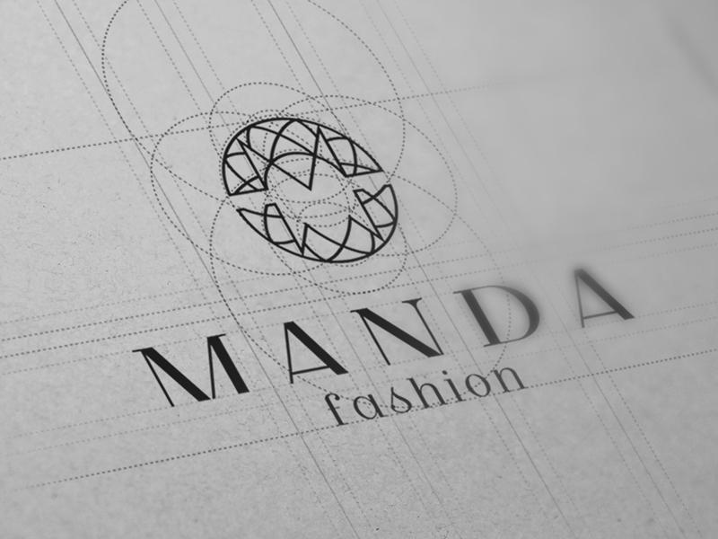 Manda logo design fashion ratio logo manda