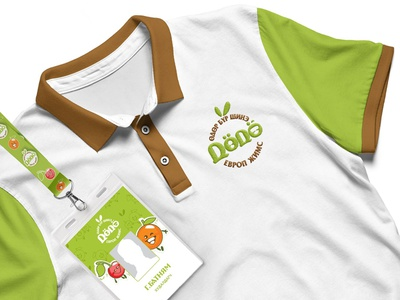 Dodo Gege fruits shop idcard design tshirt logo