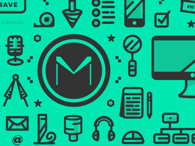 UX & Manufacturing Icon Pattern (WIP)