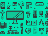 MakeTime UX & Manufacturing Icon Pattern