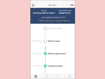 Claim Tracking System tracking law firm status claim
