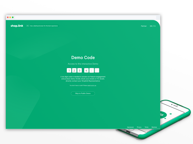 Demo access