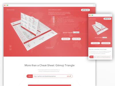 Gitmoji Website Responsive Design Exploration