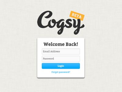 Cogsy Login (Beta)