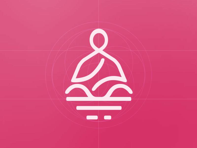 meditation logo by von bixby romo dribbble