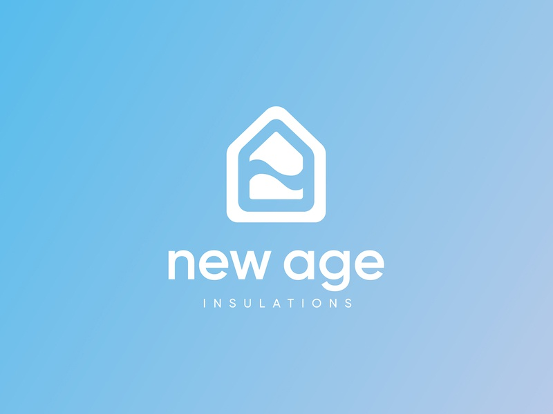 A logo for an insulation company material flat insulation identity design branding light brand graphic design graphic design identity simple clean logo