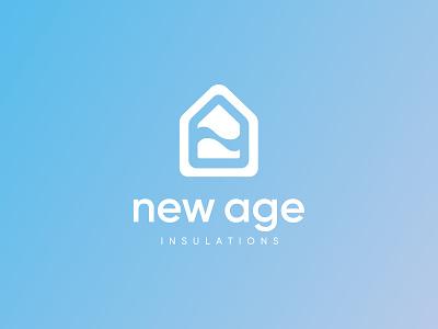 A logo for an insulation company material flat insulation identity design branding light brand graphic design graphic design identity simple clean logo