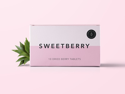 """Package design for dried berry tablets """"Sweetberry"""" package design package modern light brand graphic graphic design design simple clean"""