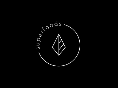 """A logo for a food brand """"Superfoods"""" food modern graphic design graphic design typography identity simple clean logo"""