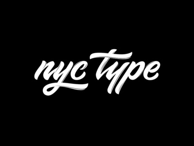 "Lettering logo for blog about typography ""nyc type"" callygraphy modern graphic design blog lettering typography simple clean logo"
