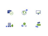University website icon set