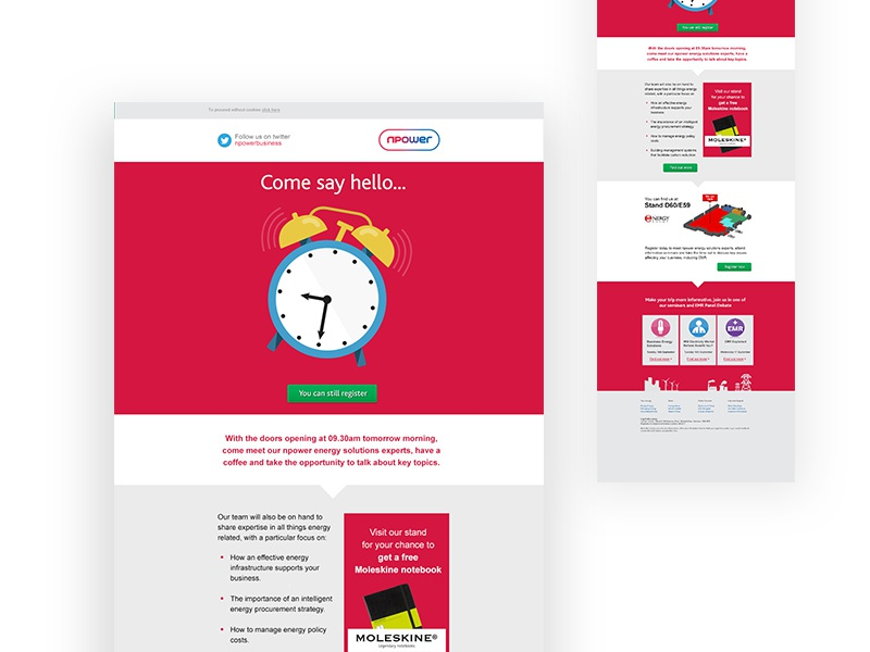 Npower Event Reminder Email By Rebecca Liggins  Dribbble
