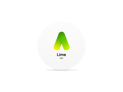 Lime taxi logo responsive taxi graphic identity branding brand logo design service web
