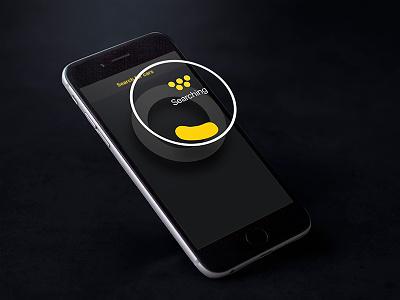 Taxi Gorod ux great progress ios car search searching grey dark ui interface