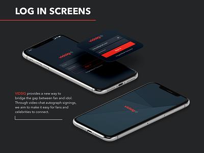 Vidsig: Log in log in icon branding typography logo design web-design ux interface ui