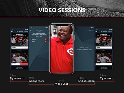 Vidsig session sport app session logo video design web-design ux interface ui