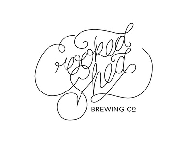 Crooked Shed Brewing Co. WIP beer hand type