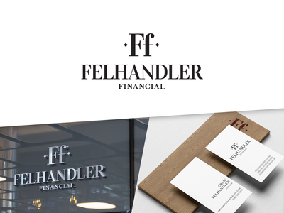 Felhandler Financial Branding serif font business card businesscard logo financial advisor financial