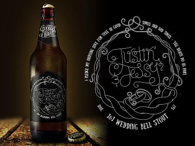 J&J Wedding Bell Stout homebrew label beer