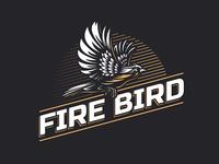Firebird vintage logo design for the beer label