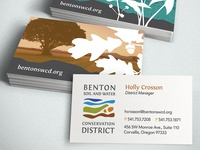 Benton Soil and Water Business Cards
