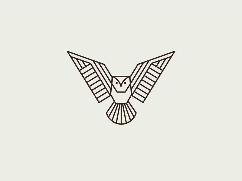 Simple Minimalist Owl Tattoo: Geometric Owl By Kari Neuberger