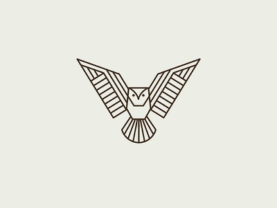 Geometric Owl logo owl animal illustration identity mark icon branding symbol